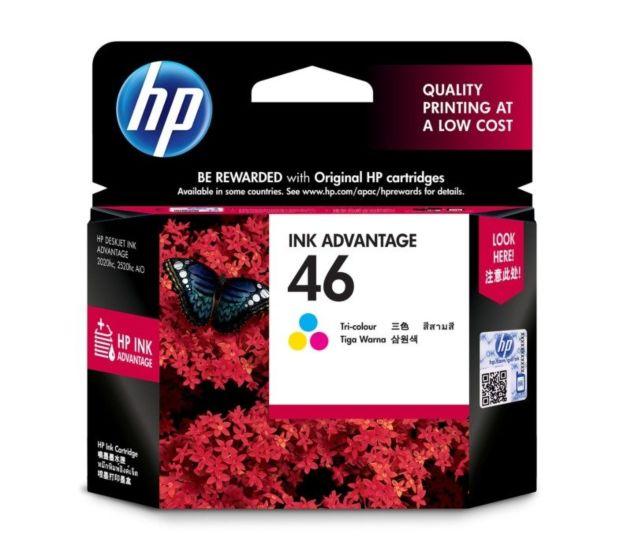 HP 46 Tri-Color Ink Cartridge [CZ638AA]